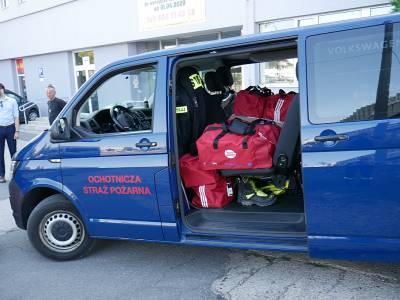 Transport środków dezynfekujących do Kluczborka