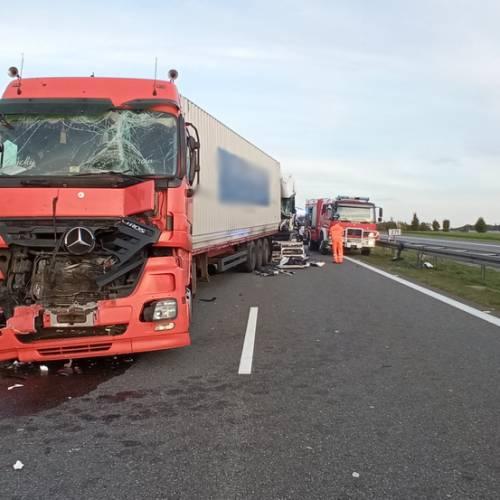 66. Autostrada A4 – Wypadek z udziałem ciężarówek