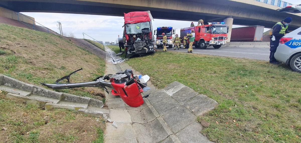 72. Autostrada A4 – Wypadek z udziałem ciężarówek