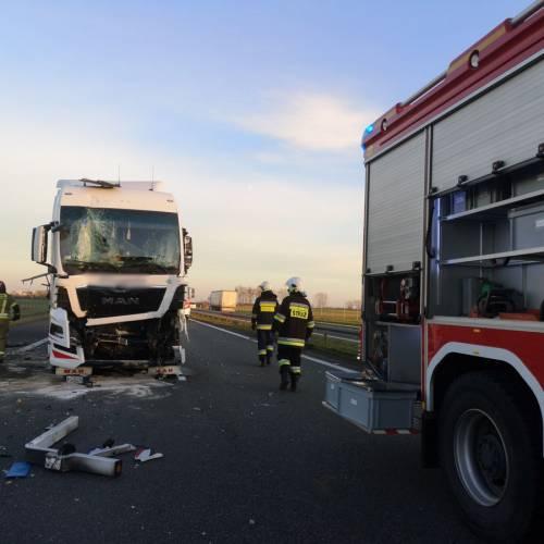 73. Autostrada A4 – Wypadek z udziałem ciężarówek