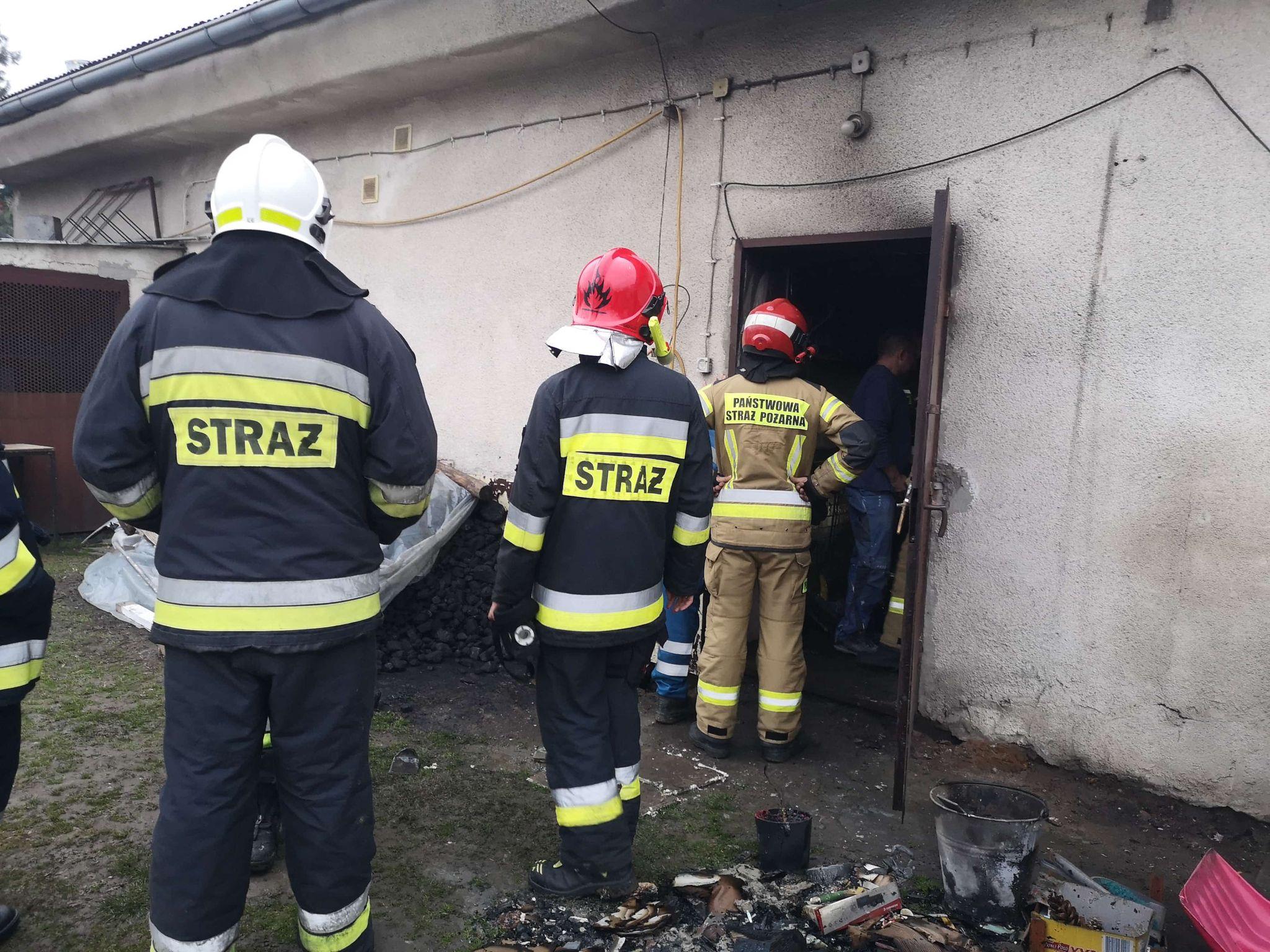 3. Zalesie Śląskie – Pożar kotłowni i komina