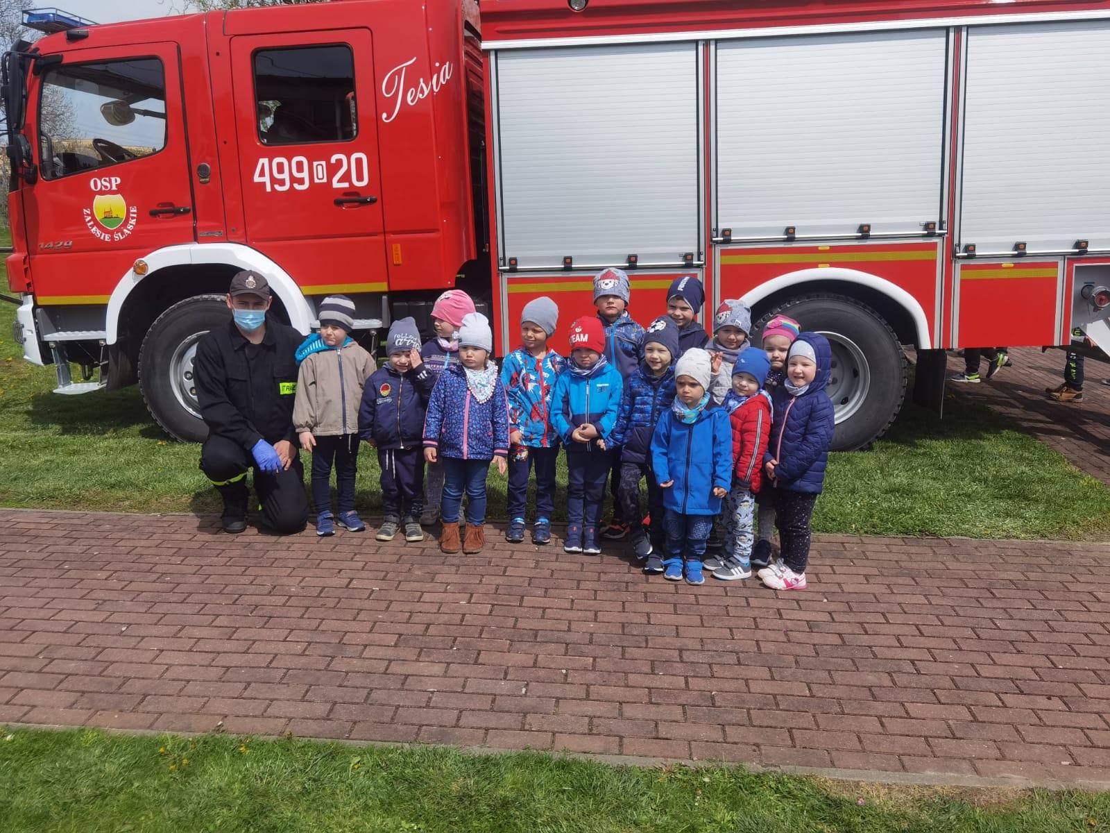 Dzień Strażaka z przedszkolakami w Zalesiu Śląskim